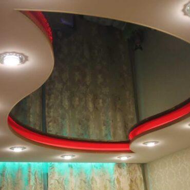 Двухуровневый потолок с внутренней подсветкой